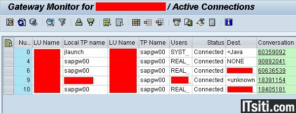 SMGW: SAP Gateway Monitor