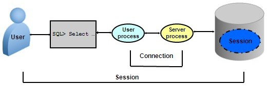 Difference: Oracle Session & Oracle Connection