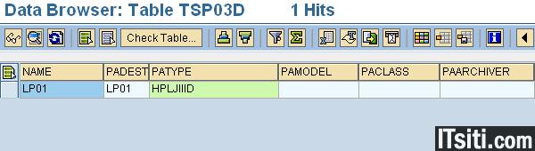 fb70 sap transaction code for printers