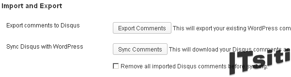 Disqus - Export comments to Disqus