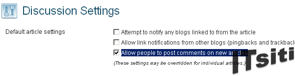 Disallow people to post comments on new articles