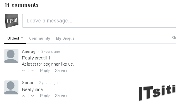 Disqus Just Comment