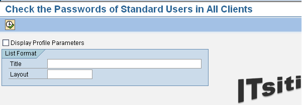 RSUSR003 - Check the Passwords of Standard Users in All Clients