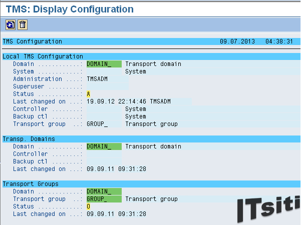 RSTMSDIC -  Display Configuration of TMS