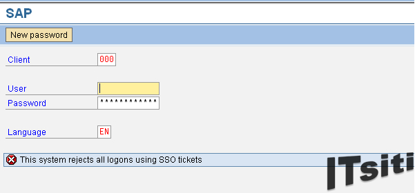 This system reject all logons using SSO tickets