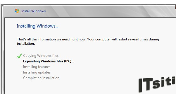 MS Server 2008 R2 Installation - Installing Windows