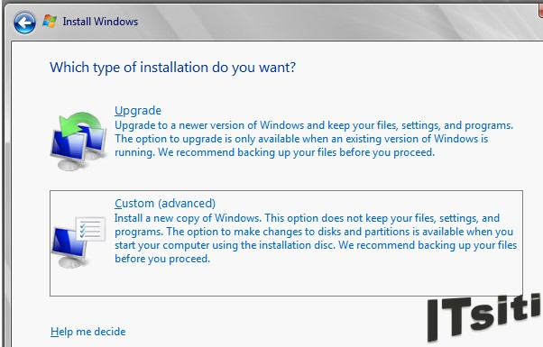 MS Server 2008 R2 Installation - Type of Installation