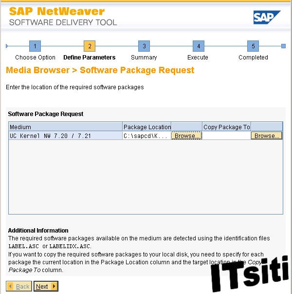 ERP 6.0 Dialog Installation - Software Package Request