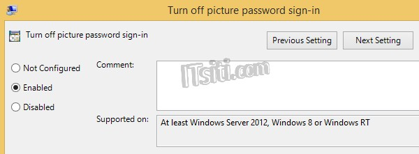 Turn Off Windows 8 Picture Password Sign-in