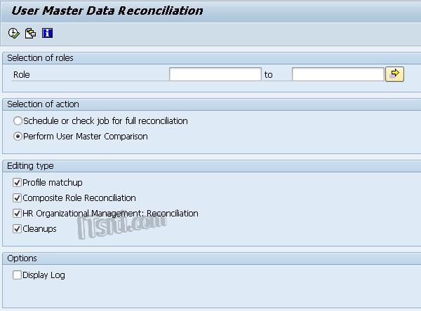 PFUD: SAP User Master Data Reconciliation