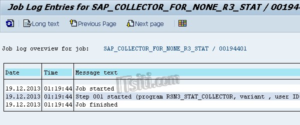 Tcode to check job log in sap