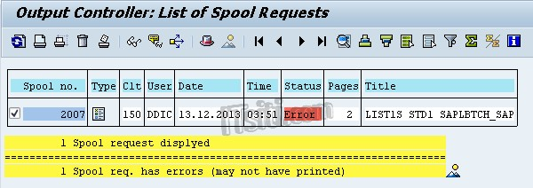 SP01 - List of Spool Request - Double Click