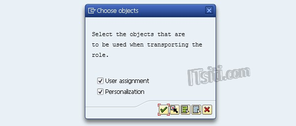Choose Objects - Role Transport