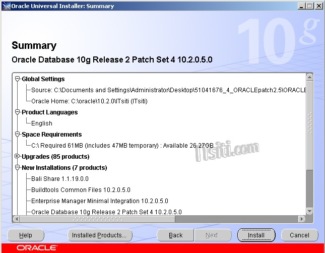 Steps to Patch Oracle 10 2 0 4 0 to 10 2 0 5 0