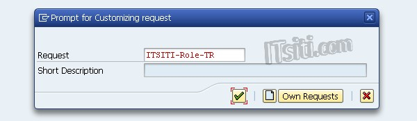 Role Transport - Prompt for Customizing Request
