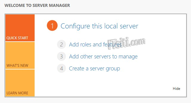Server Manager - Add Roles and Features