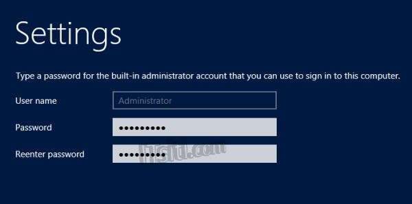 how to change administrator password in windows server 2012