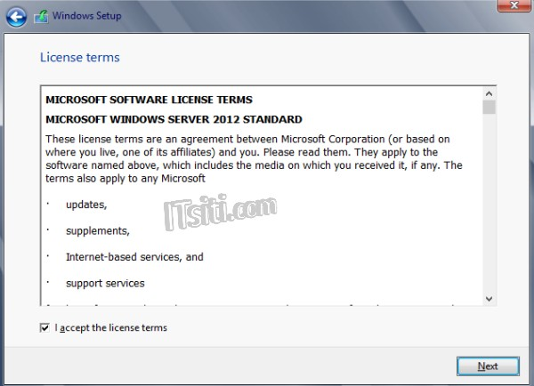 Windows 2012 - License Terms