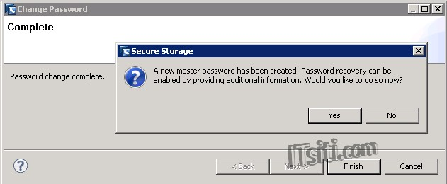DB Studio - Secure Storage Change Password Complete