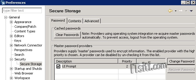 DB Studio - Secure Storage Change Password