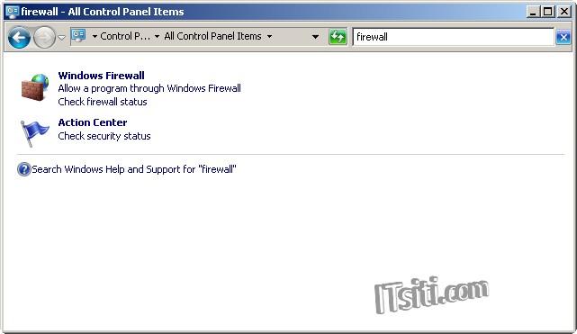 windows7 how to open port