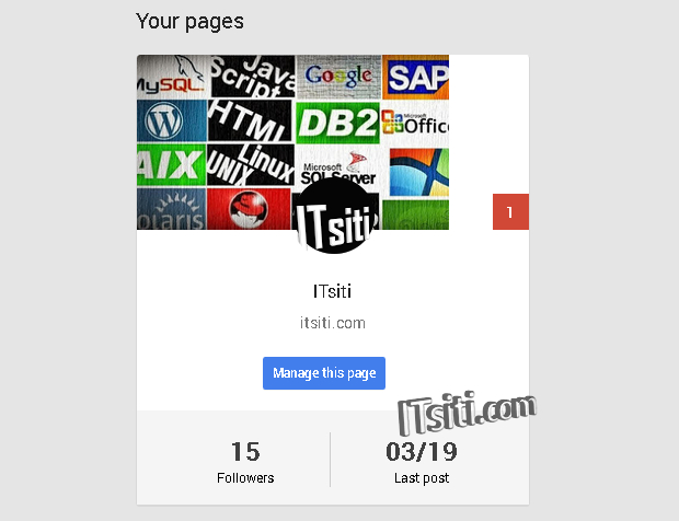 Google+ Your Pages