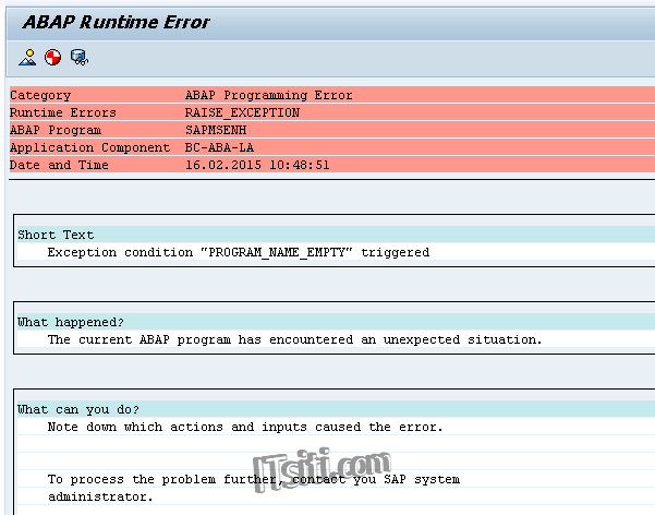 LAST_SHORTDUMP - Latest ABAP Dump