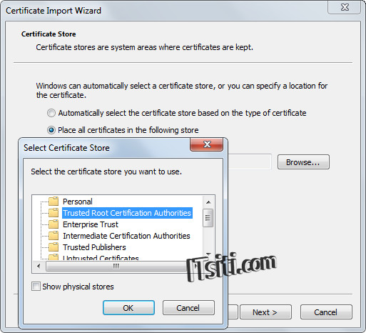 Install Certificate Store