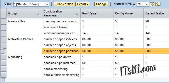 Meta-Data Caches - Number of open partitions