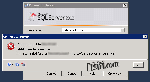 Login failed for user - SQL Server Error 18456