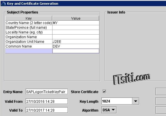 VA - Key and Certificate Generation