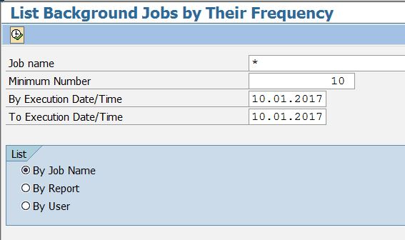 BTCAUX14 - List Background Jobs by Frequency