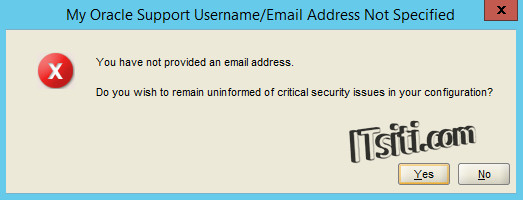 Oracle12c - Email Address Not Specified