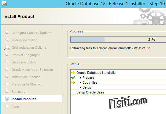 Oracle12c - Install Product