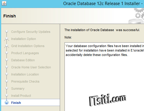 Oracle12c - Installation Complete