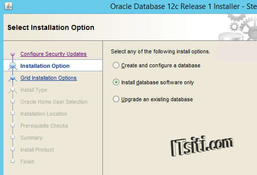 Oracle12c - Installation Options