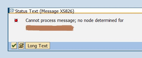 SOST - Cannot process message - no node determined for EMAIL