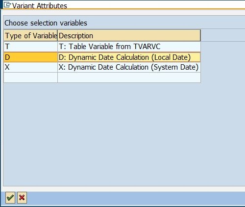 Dynamic Variant - Selection Variables