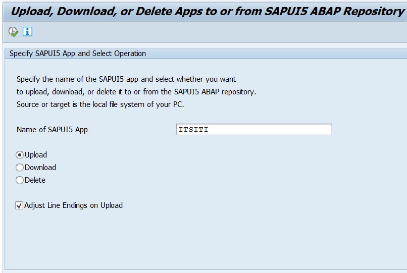 UI5/UI5_REPOSITORY _LOAD - Upload, Download, Delete from SAPUI5 ABAP